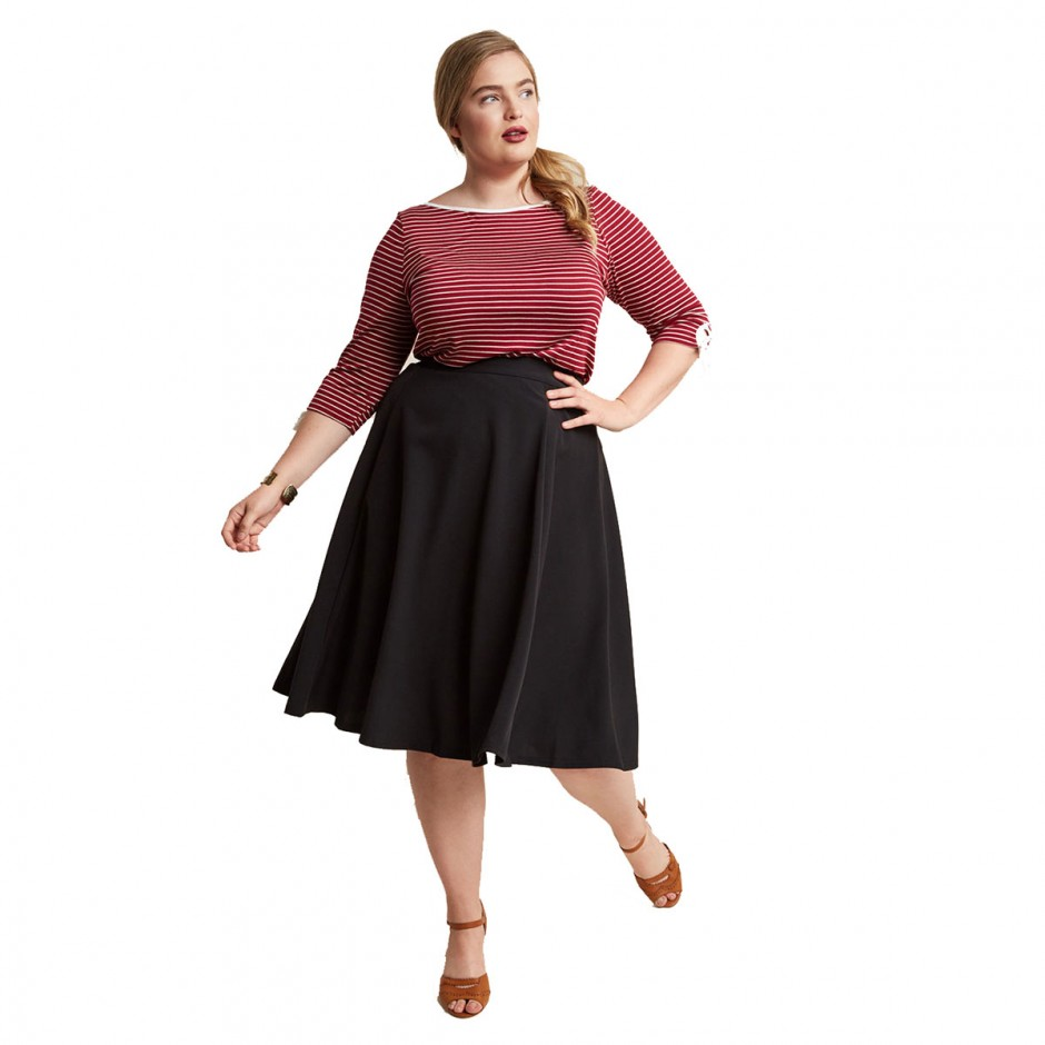 a0c6abd196 Asos Curve Jersey Midi Skirt With Pockets