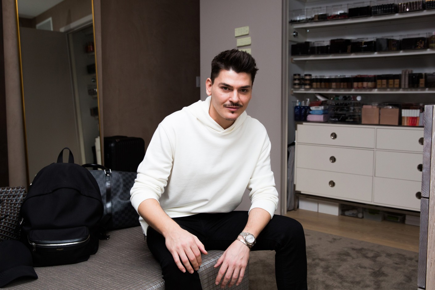 Inside Makeup Artist Mario Dedivanovic's Beauty Closet