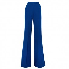 elie saab silk crepe de chine flared pants