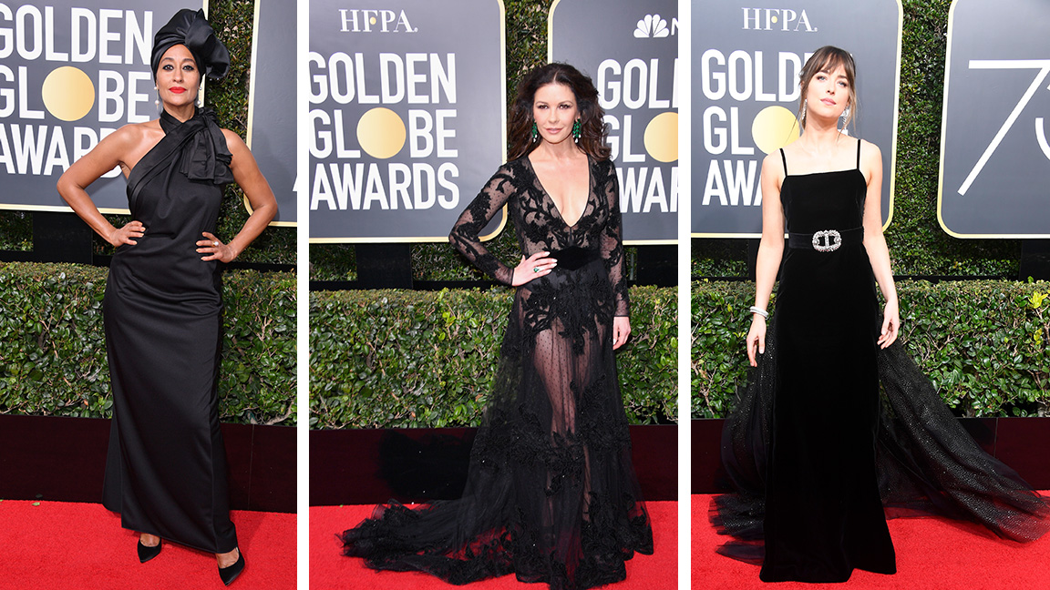 These Actresses All Wore Black and Supported Time's Up at the 2018 Golden Globes