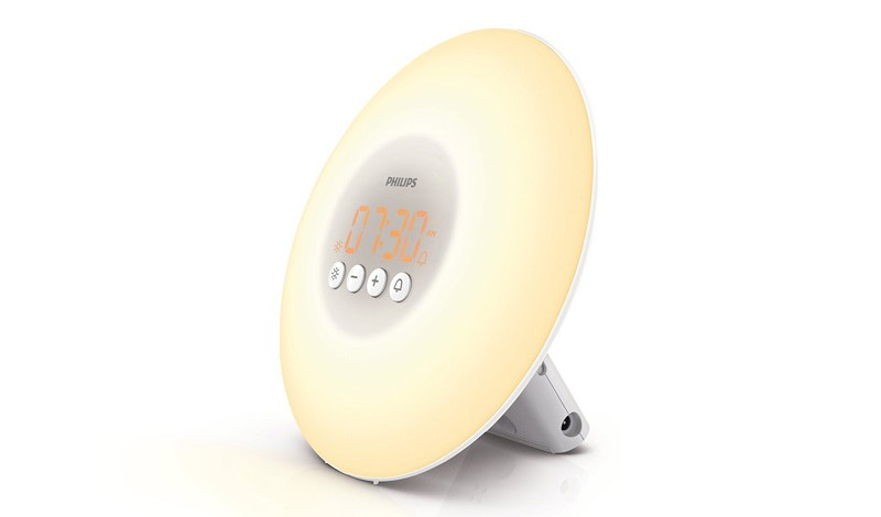 philips wake up light with sunrise simulation alarm clock