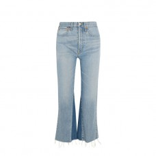 re done originals cropped high rise flared jeans