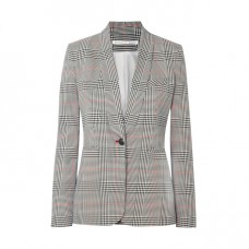 veronica beard eva checked crepe blazer
