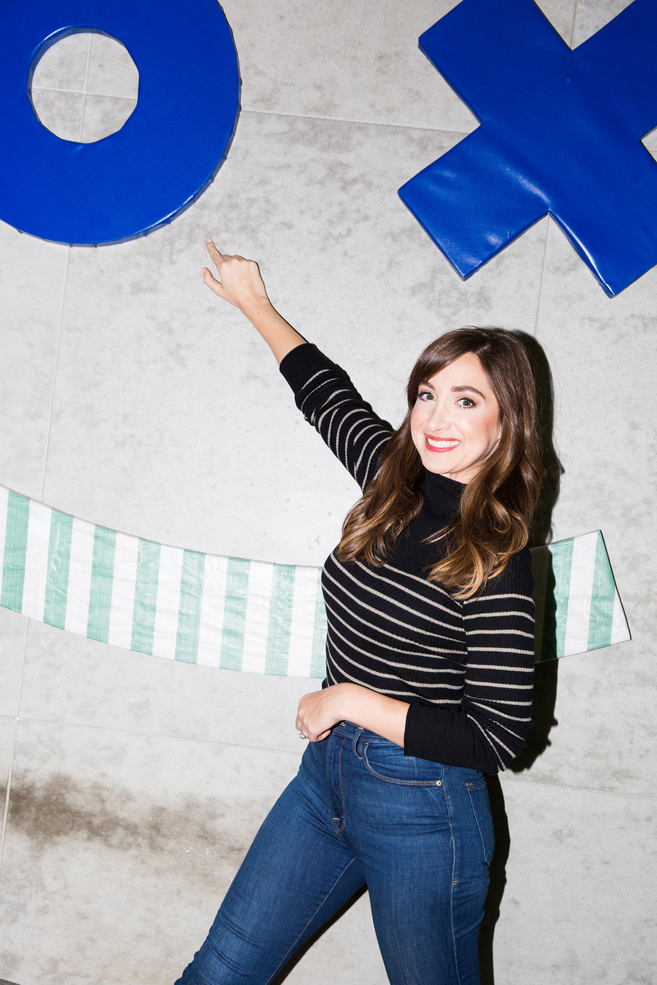 Celebrity striped dress