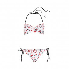 soshanna classic cherry bra halter top and bottom