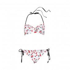 soshanna classic cherry bra halter top and bottom