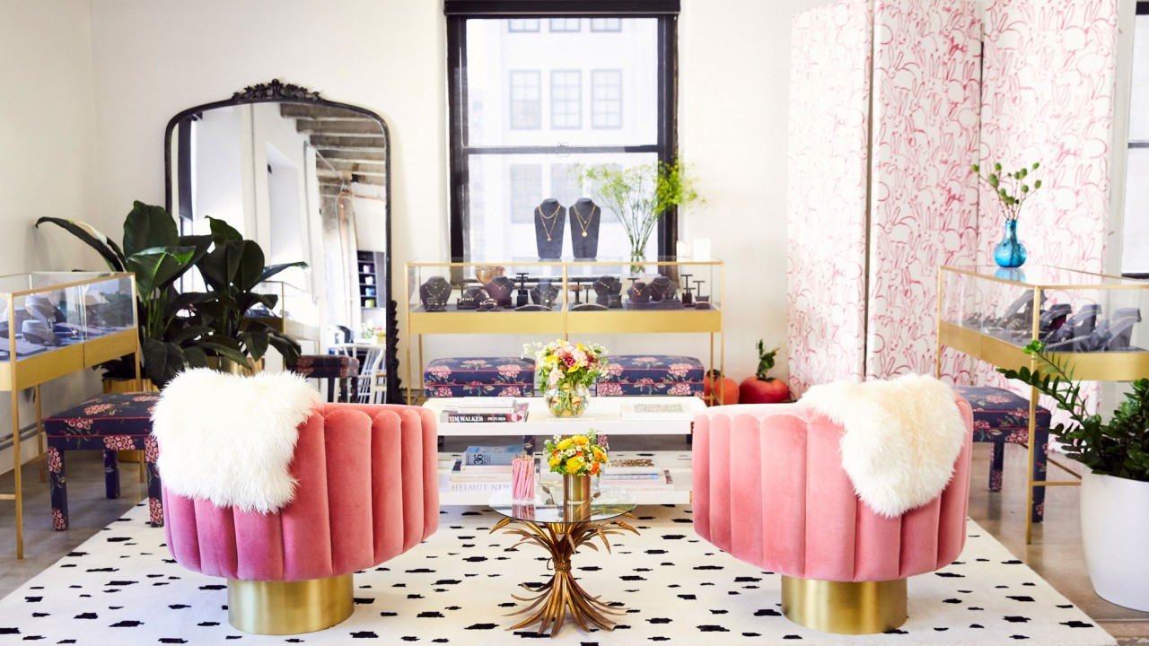 Jewelry Designer Ariel Gordon's Showroom Is Covered in Pink Bunnies