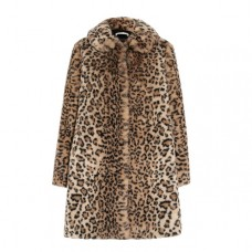 alice olivia kinsley oversized leopard print faux fur coat