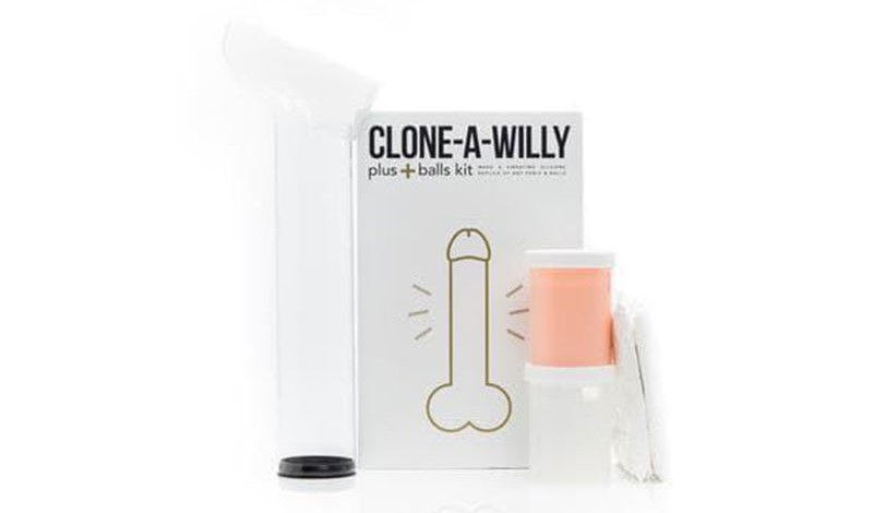 clone-a-willy sillicone penis plus balls cock casting kit