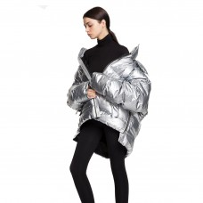 pixie market silver oversize puffy coat