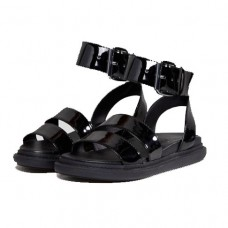 asos flock wide fit chunky flat sandals