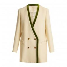 blaze milano savannah sunset silk and linen blend blazer