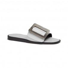 boyy leather slide sandals
