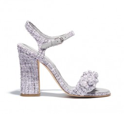 Tweed Sandals by CHANEL