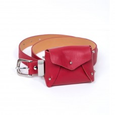 frankie shop red mini purse belt