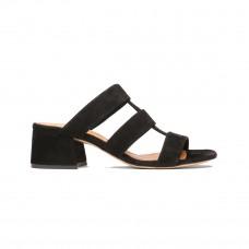 ganni olive sandals