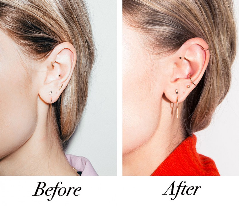 how to style ear piercings