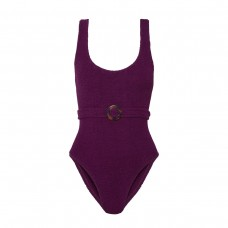 hunza g solitaire embellished seersucker swimsuit