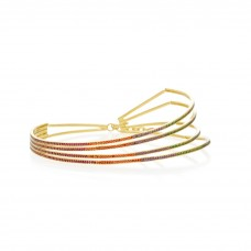 joanna laura constantine gold plated rainbow choker necklace