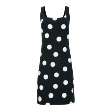 karl lagerfeld paris square neck polka dot dress
