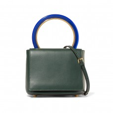 marni pannier leather shoulder bag