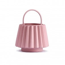 mlouye mini lantern bag pleated pink cloud