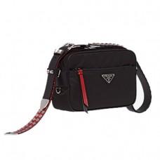 prada black mini nylon shoulder bag