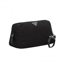 prada fabric cosmetic pouch in black