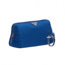 prada fabric cosmetic pouch in blue