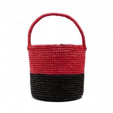 sensi studio bi colour toquilla straw basket bag