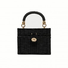 zara minaudiere bag with braided handle