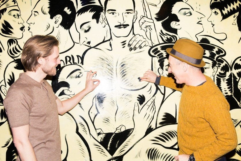 how alan cumming met zachary booth