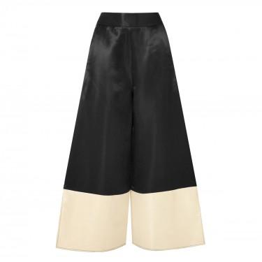 beaufille sina two tone satin wide leg pants
