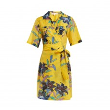 diane von furstenberg floral print cotton and silk blend wrap dress