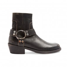 balenciaga santiago distressed leather boots