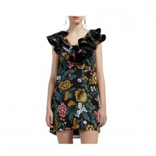 c/meo collective immerse mini dress black floral