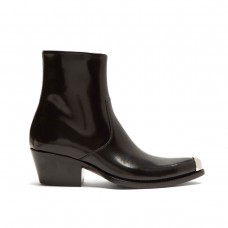 calvin klein 205w39nyc tex chiara leather ankle boots