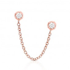 carbon hyde rosebud earring rose gold