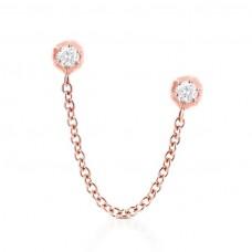 carbon hyde rosebud earring rose gold