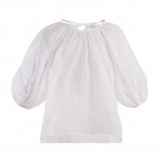 cecilie bahsen astrid puff sleeve cotton blouse