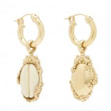 ellery rosalind shell drop earrings