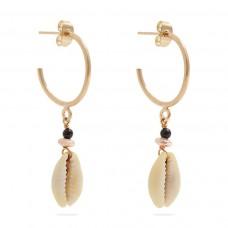 isabel marant seashell hoop earrings