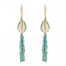 isabel marant seashell tassel earrings
