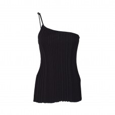 jacquemus ribbed asymetric top