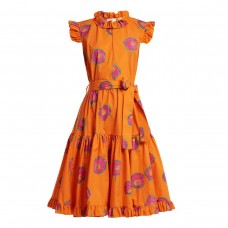 la doublej editions short and sassy floral print cotton dress
