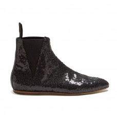 loewe sequin embellished ankle boots