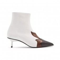 marques almeida flame applique leather ankle boots