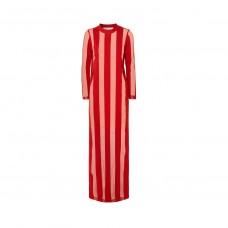 marques almeida striped devore chiffon maxi dress