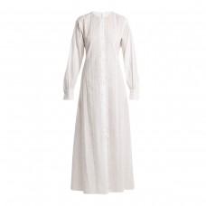 merlette kir round neck eyelet lace cotton dress