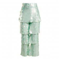 osman felix tiered sequin embellished trousers